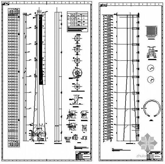 某240米套筒烟囱结构设计图图片