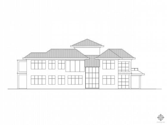 某三层欧式别墅方案图(含效果图、3DMAX模型)