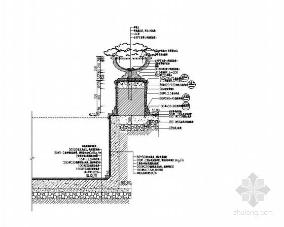 [东莞]居住区综合楼广场园林景观工程施工图-图5