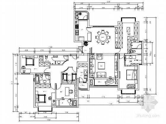 [上海]经典五居室内装修图