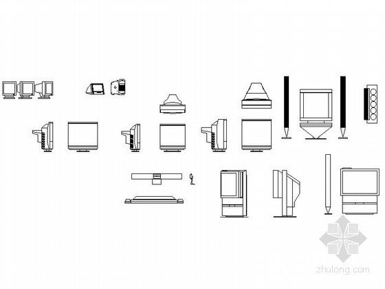 家装电视机CAD图块下载