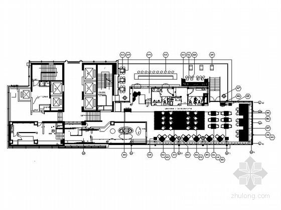 [深圳]国际性连锁品牌酒店现代扒房装修施工图(含效果)