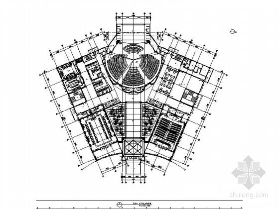 [苏州]现代风格党政机关社区服务及物业管理办公室室内设计施工图
