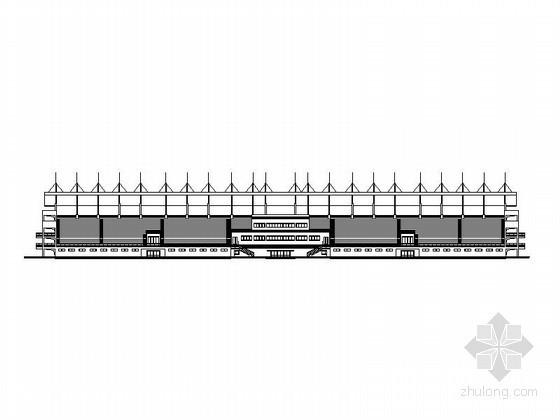 [合肥]某学院400米标准运动场体育看台建筑施工图