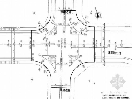 [福建]城市主干路改扩建工程初步设计图纸125张