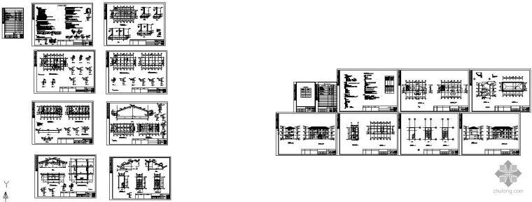 某7度三层砖混结构办公楼全套建筑结构图