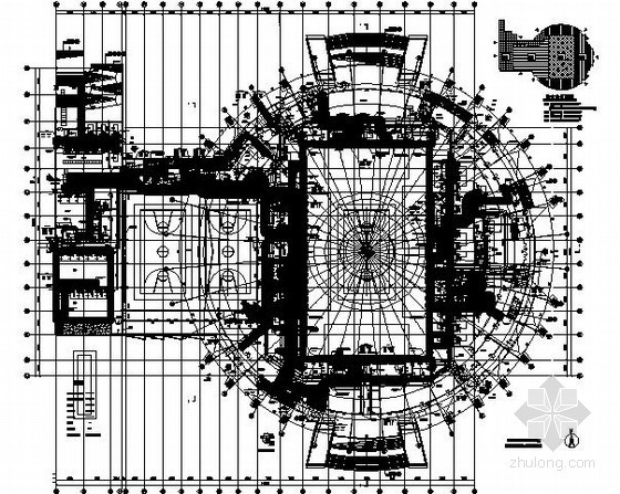 [江苏]体育场空调通风设计施工图(含详细计算书 座椅回风)
