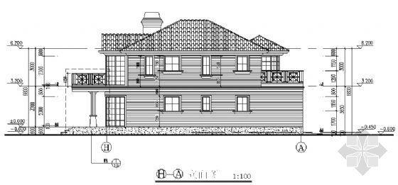 某二层别墅建筑、结构图纸-2