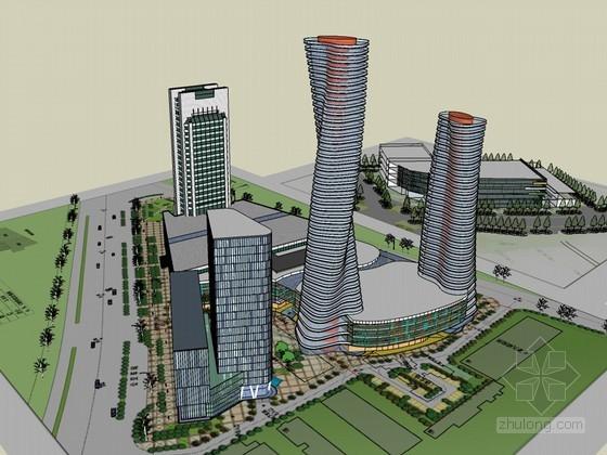商业建筑模型SketchUp模型下载