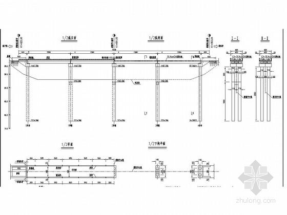 简支空心板梁桥加固改造工程施工图设计(预应力空心板 含预算表)