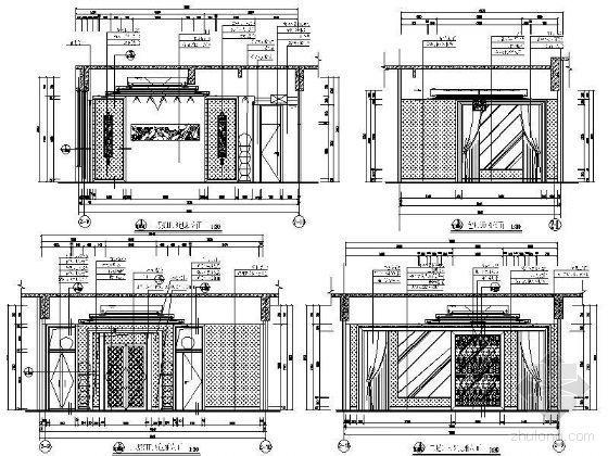 VIP包厢装修资料下载-豪华VIP包厢立面设计图Ⅲ