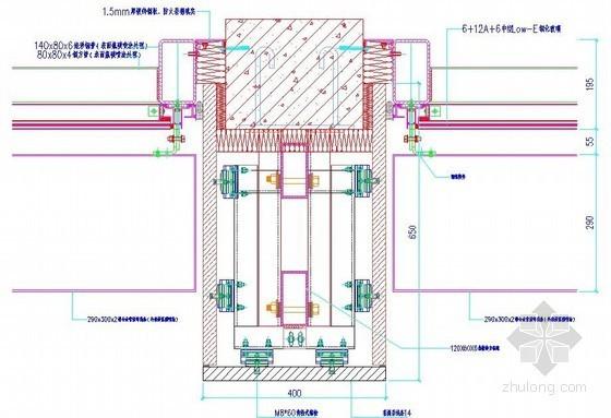 铝合金线条与石材包柱收口节点