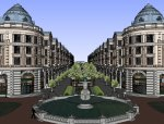 商业街西方新古典风格4层建筑设计(su模型)