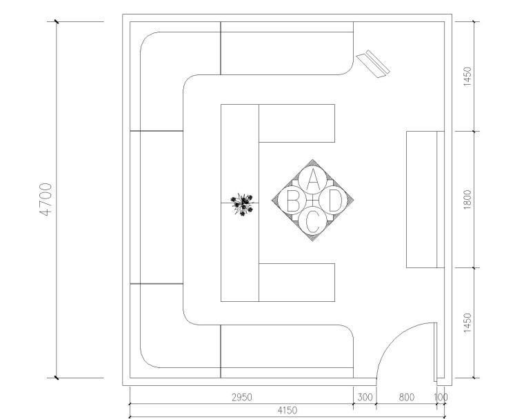 室内娱乐空间装修施工图(KTV包房)