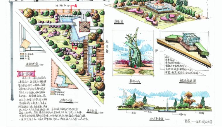 15套校园景观手绘快题设计方案