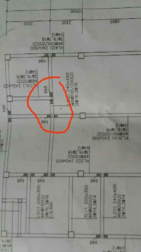 在基础梁平面配筋图中,6Φ8钢筋左3根右3根符号,是联接过粱做垫层