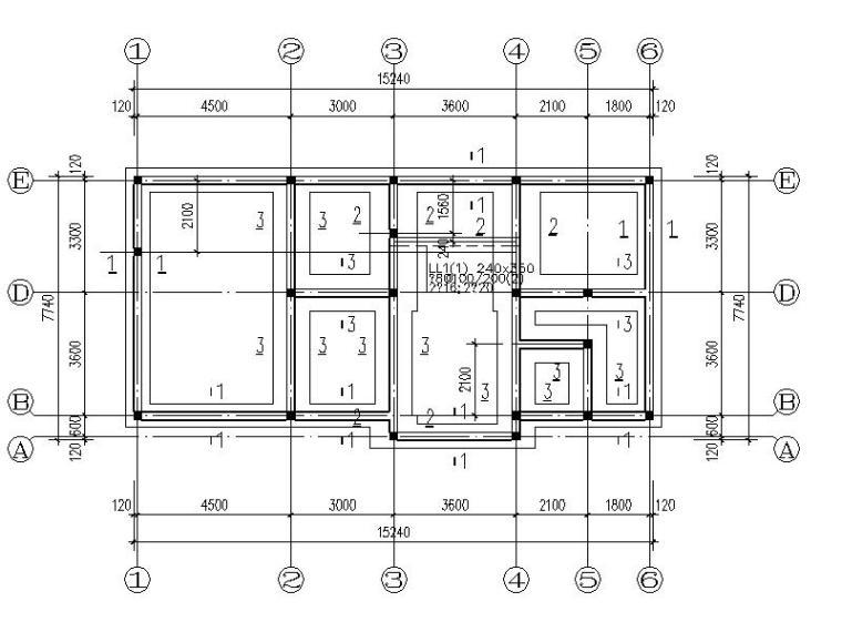 两层砖混结构住宅楼结构施工图(CAD)
