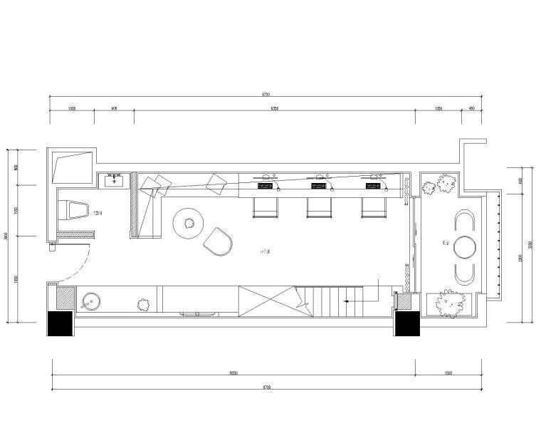[贵州]LOFT--贵阳俊发办公样板间施工图+效果图