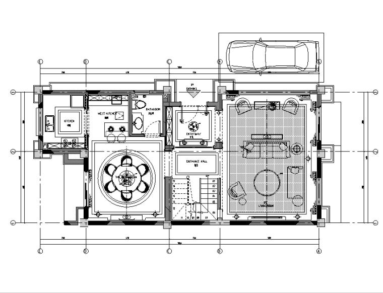 不在巴黎的浪漫 熊猫小镇T3别墅设计施工图(附效果图)-住宅装修-土木资料网