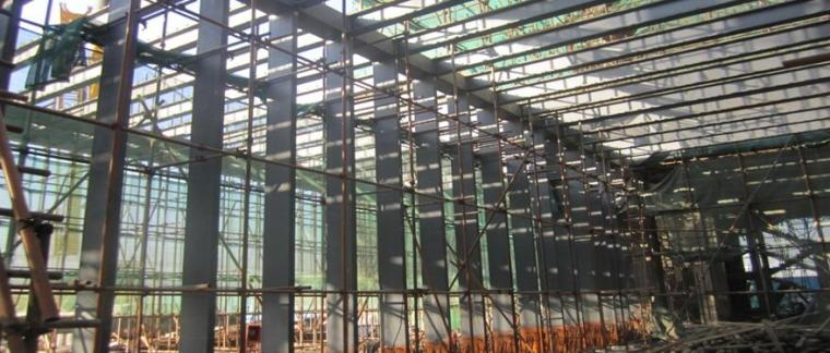 [QC成果]减少钢结构箱型柱柱身变形质量控制PPT-工程概况