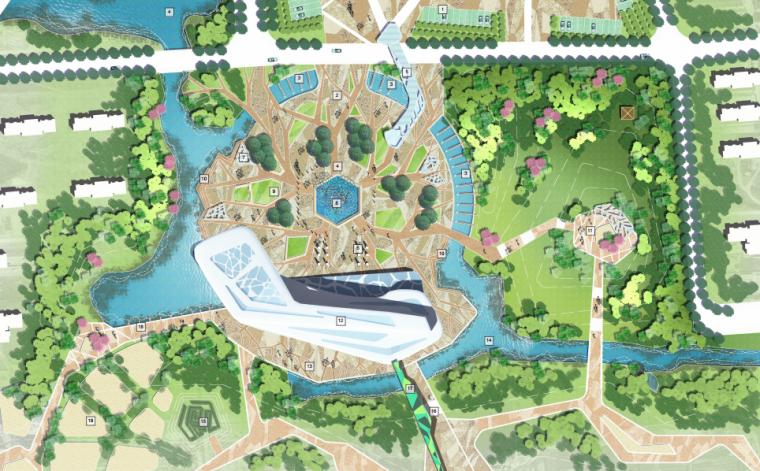 [湖北]武汉园博会景观规划设计方案文本-[湖北]武汉园博会景观规划设计文本 C-1知音广场节点平面