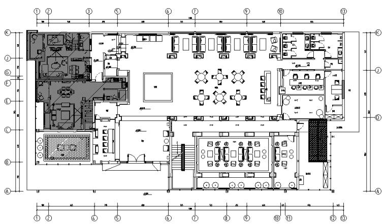 [福建]金辉珑园销售中心设计施工图(附效果图)