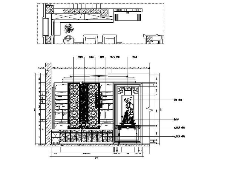[山西]优雅庄重中式风格别墅室内设计施工图(含效果图)_2