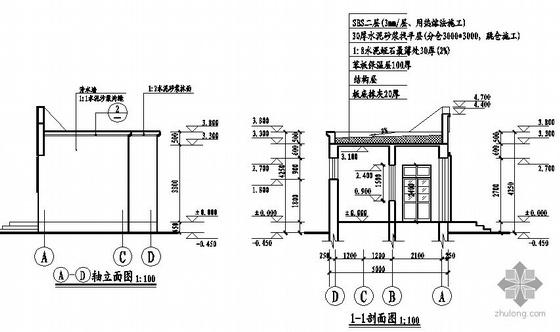 [合集]20套建筑小品——公厕建筑施工图及方案文本_2