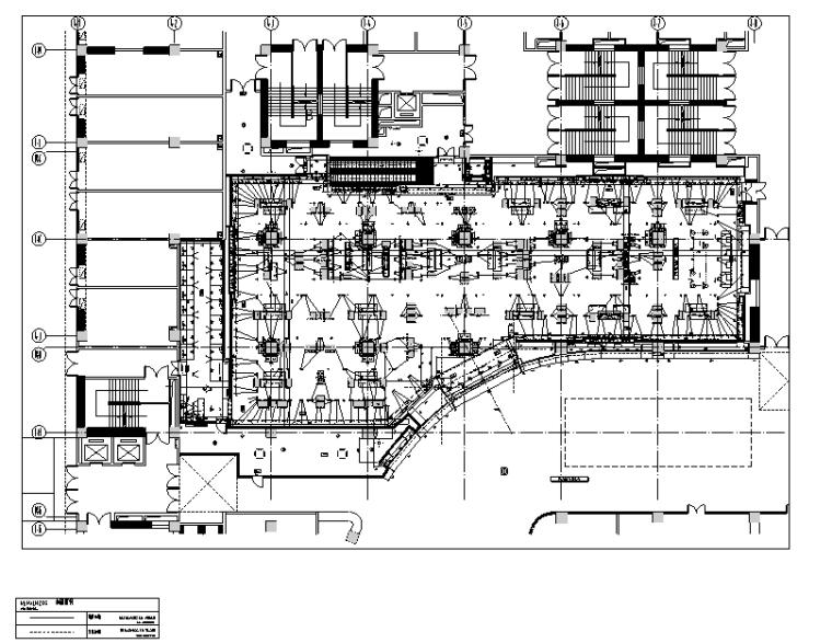 [云南]ZARA爱琴海店装饰设计施工图-一层隔墙尺寸图