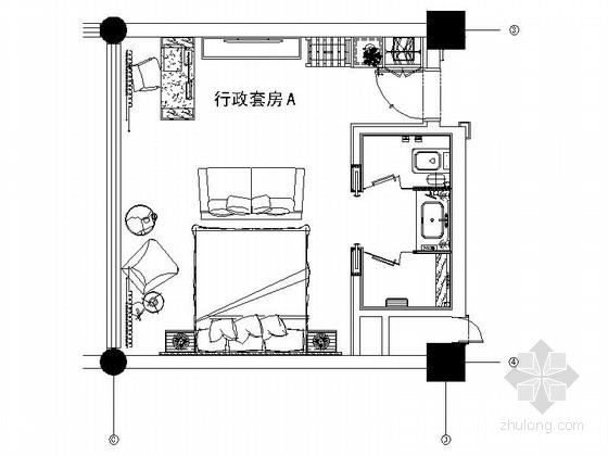 [陕西]某豪华酒店行政套房室内装修图