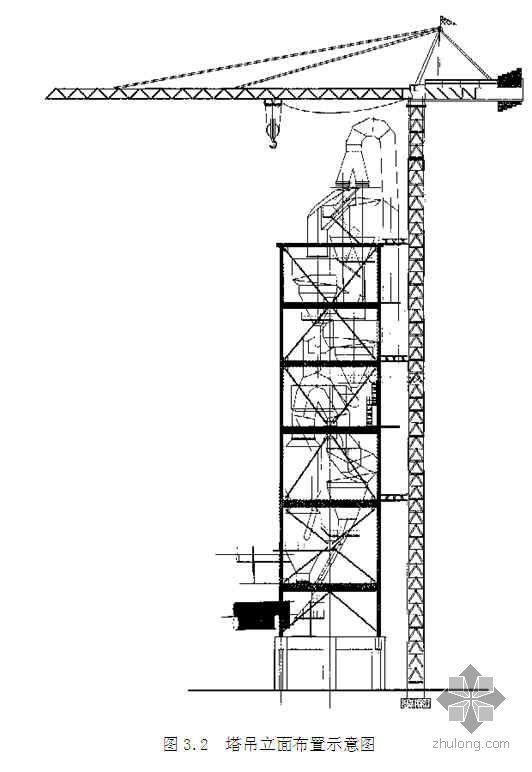 四川某水泥生产线设备吊装方案(抱杆 塔吊 附图)