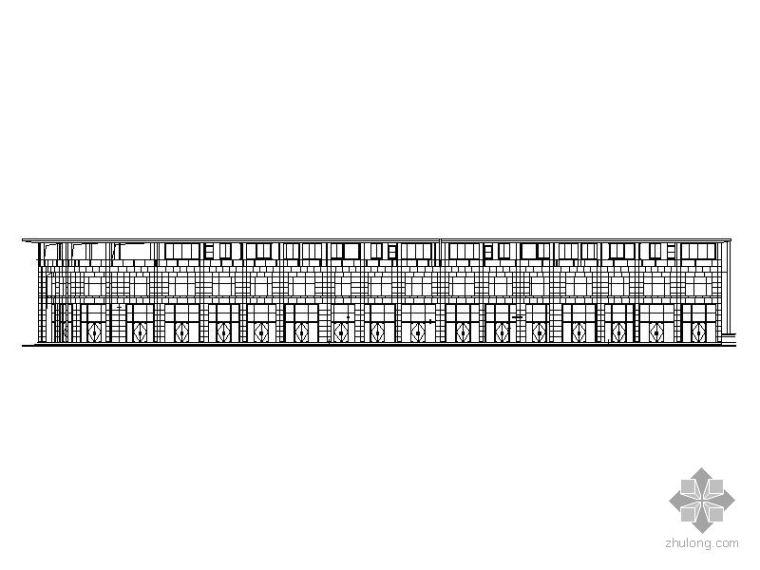 [湖北孝感]某住宅裙楼商铺幕墙工程建筑施工图