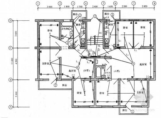 [江苏]住宅楼电气照明工程清单计价实例(含配图)
