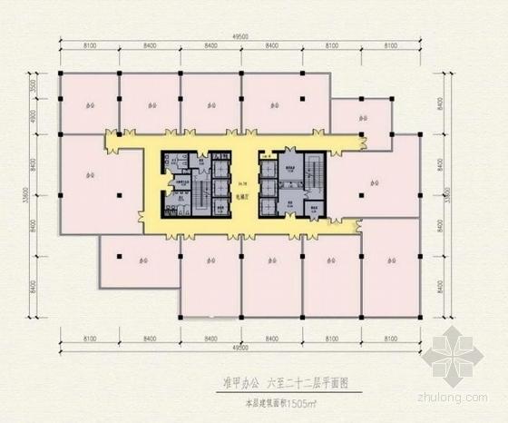 高档现代风格多层次商业综合体建筑平面图