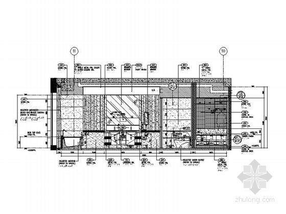 [北京]五星级高端豪华商务酒店客房室内施工图 立面图