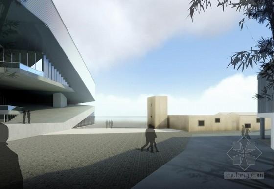 [深圳]两层清水混凝土拍卖交易中心改建设计方案文本-两层清水混凝土拍卖交易中心改建效果图