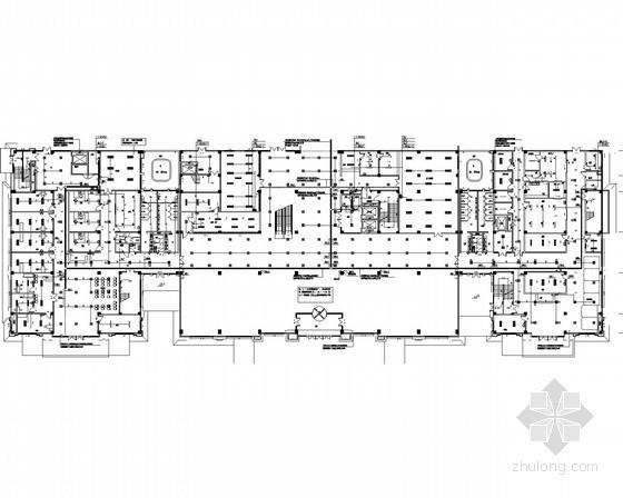 [山东]市中心医院门诊大楼电气施工图(甲级设计院)