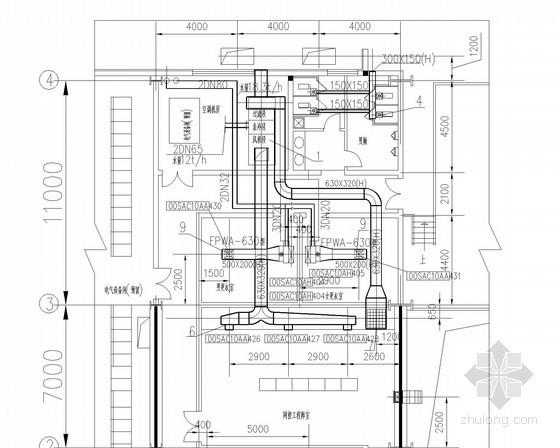[江苏]小型办公楼空调通风系统设计施工图(集中空调)