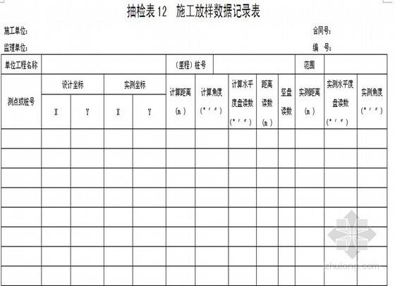 道路、桥梁、隧道工程监理单位抽检记录表(136页)