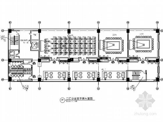 [北京]高档现代服务中心会议室装修施工图(含效果)