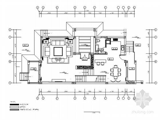 [武汉]三层住宅别墅现代风格室内设计施工图