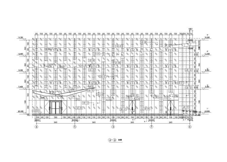 [淄博]高层大厦幕墙工程施工图含计算书2014