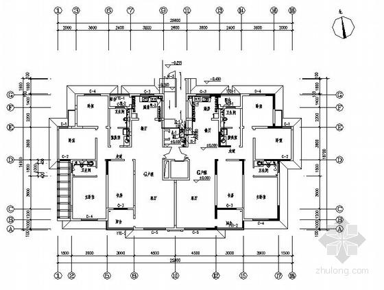 郑州某小区10#12#楼给排水图纸