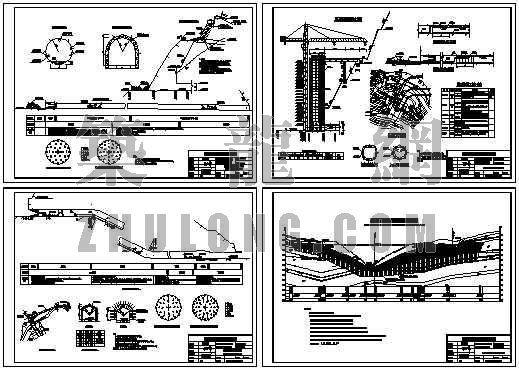 某大坝引水系统施工图