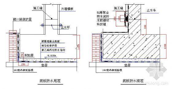 某高层建筑地下结构防水施工方案(聚乙烯丙纶防水卷材)