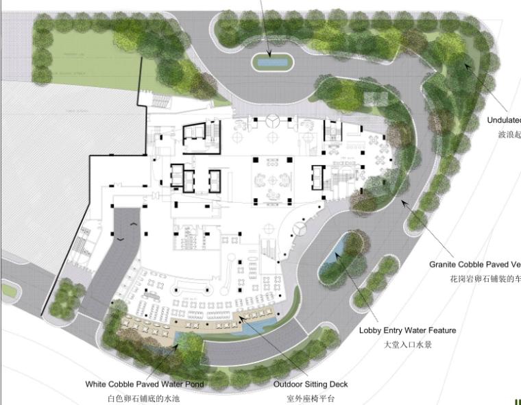 [河南]洛阳希尔顿酒店景观方案设计(屋顶花园为主)