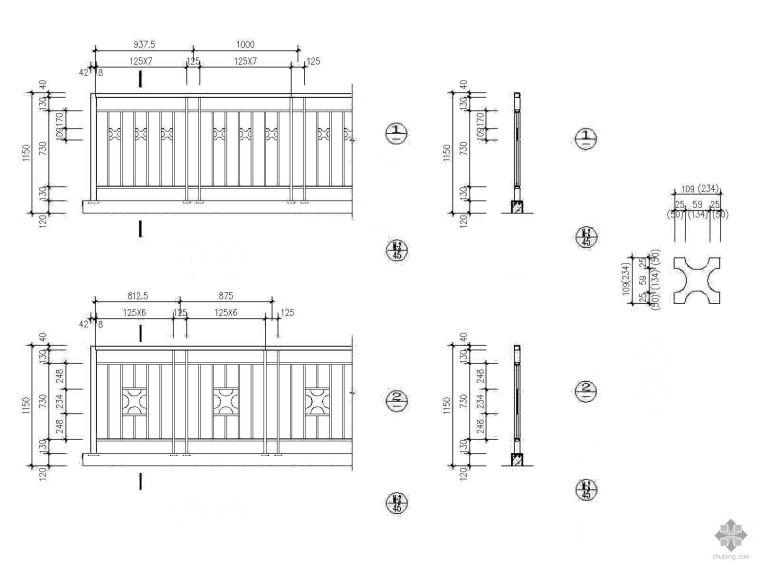 住宅栏杆做法详图