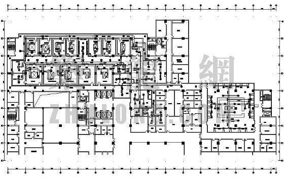 青岛某医院手术室洁净空调设计图