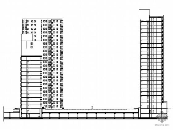 [北京太平桥]某山水住宅三期建筑方案设计建筑施工图(带人防及车库施工)