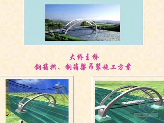 大跨径曲线梁非对称外倾拱桥钢箱拱、钢箱梁吊装施工方案汇报